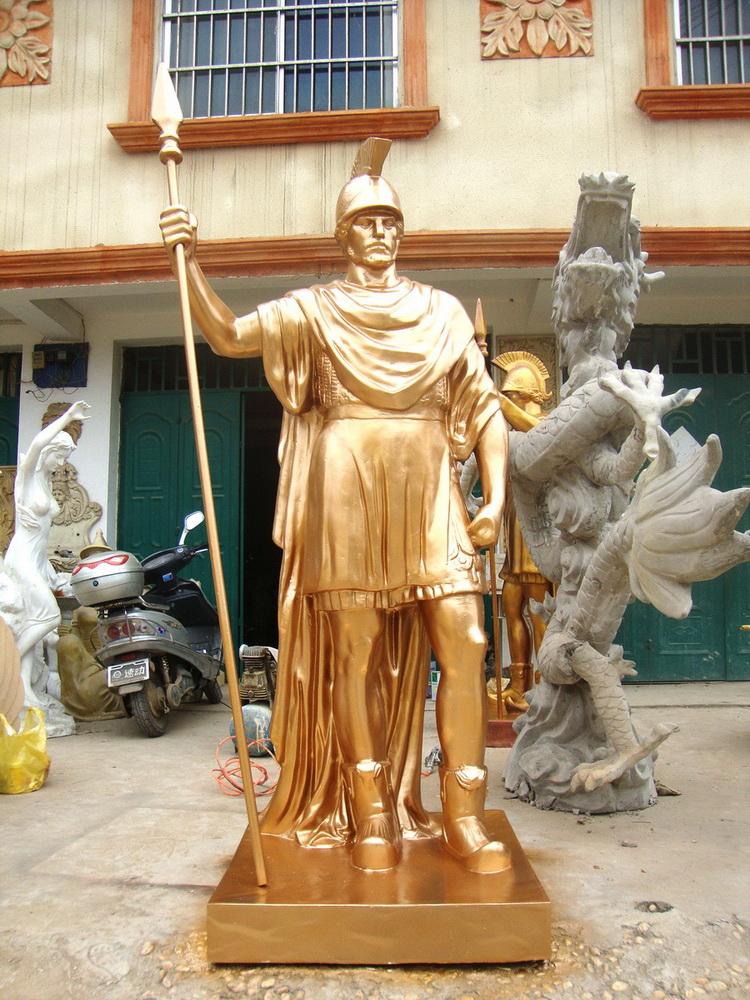 欧式人物雕塑 玻璃钢雕塑 彩色雕塑 武汉雕塑公司 点